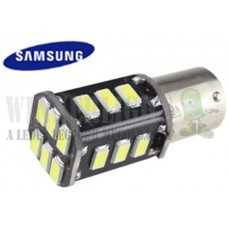 Autós led BA15S Canbus index, tolató, helyzetjelző világítás, 18 led, 5730 chip, 2,5W, sárga