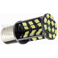 Autós led BA15S Canbus index, tolató, helyzetjelző világítás, 60 led, 5050 chip, 450 Lumen, 5W, sárga