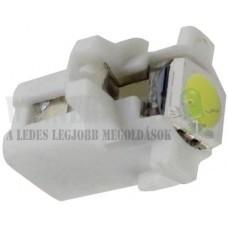 Autós led B8.3 műszerfal világítás, 1 led, 15 Lumen, 0,4W, hideg fehér