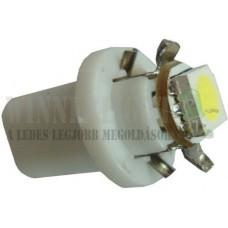 Autós led B8.5 műszerfal világítás,1 led, 23 Lumen, 1W, hideg fehér