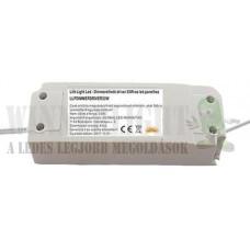 Dimmerelhető, fényerő szabályozható driver led panelhoz 53W, 1200mA, 27-42V. Csak a saját kapcsolójával üzemel, LLPDIMMERKAP53W!