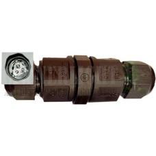 IP67 kötődoboz henger, 20A, maximum 3x2,5mm vezetékhez! Fekete. A led reflektorok elengedhetetlen kelléke