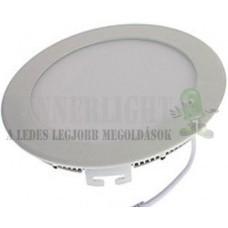 Led panel világítás driverrel, kör, 6W, 480 lumen, 6000 Kelvin, hideg fehér